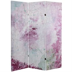 Oriental Furniture 5' Tall Pink Boudoir Canvas Room Divider