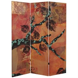 Oriental Furniture 5' Tall Rich Autumn Canvas Room Divider