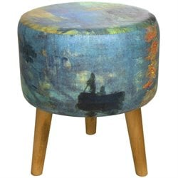 Oriental Furniture Monet Impression Sunrise Stool