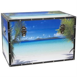 Oriental Furniture Ocean Beach Trunk