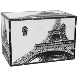 Oriental Furniture Eiffel Tower Trunk
