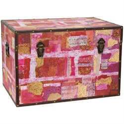 Oriental Furniture AvantinGarde Collage Trunk