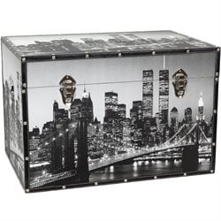 Oriental Furniture New York Scenes Trunk
