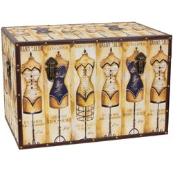 Oriental Furniture Mannequin Storage Trunk