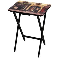 Oriental Furniture Parisian Cafe TV Tray