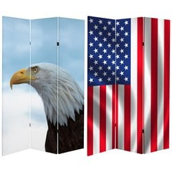 Oriental Furniture 6' Tall Spirit of America Canvas Room Divider