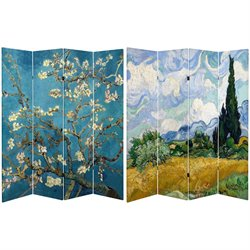 Oriental Furniture 6' Tall Works of Van Gogh Canvas Room Divider