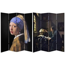Oriental Furniture 6' Tall Works of Vermeer Canvas Room Divider