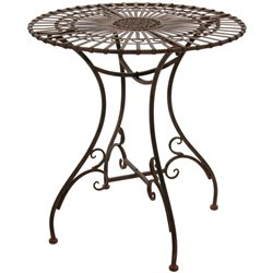 Rustic Outdoor Bistro Table