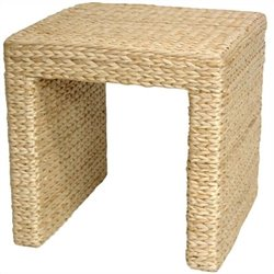 Oriental Furniture Rush Grass End Table in Natural
