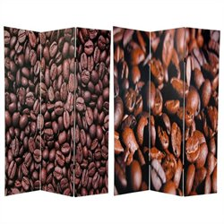 Oriental Double Sided Coffee Beans Room Divider in Brown