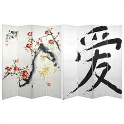 Oriental Cherry Blossoms and Love Room Divider