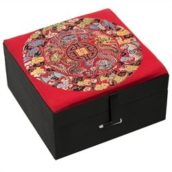 Oriental Furniture Good Fortune Box in Multicolor
