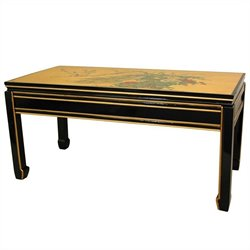 Oriental Furniture Lacquer Coffee Table in Gold