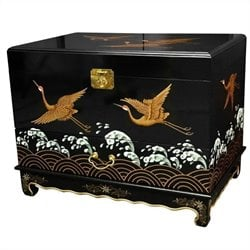 Oriental Furniture Trunk in Black