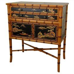 Oriental Furniture Ching Accent Chest in Black