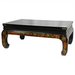 Oriental Furniture Peaceful Village Coffee Table in Black
