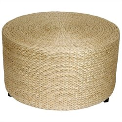 Oriental Furniture Ottoman Coffee Table in Natural