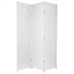 Oriental All Weather Outdoor 3 Panel Room Divider in White