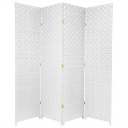 Oriental All Weather Outdoor 4 Panel Room Divider in White