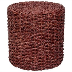 Oriental Furniture Knotwork Stool in Mahogany