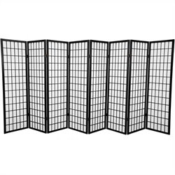 Oriental Furniture 5 ' Tall Window 8 Panel Shoji Screen in Black