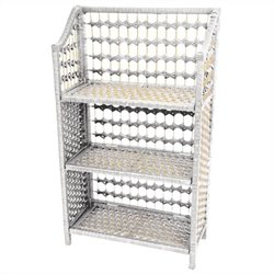 Oriental Furniture 3 Shelf Shelving Unit in White