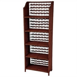 Oriental Furniture 5 Shelf Shelving Unit in Mahogany