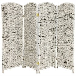 Oriental Recycled Newspaper 4 Panel Room Divider