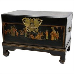 Oriental Furniture Small Trunk in Black