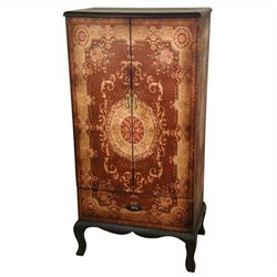 Oriental Furniture Olde-worlde European Accent Chest in Brown