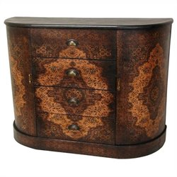 Oriental Furniture Olde-worlde European Credenza in Brown
