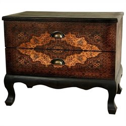 Oriental Furniture Olde-worlde Euro Accent Chest in Brown