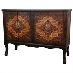 Oriental Furniture Olde-worlde Vintage Double Accent Chest in Brown