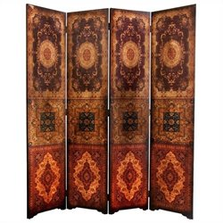 Oriental Furniture 6 ' Tall Olde-worlde Baroque Room Divider in Brown