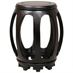 Oriental Furniture Circular Stand in Rosewood