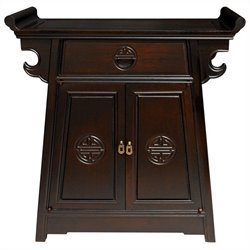 Oriental Furniture Altar Cabinet in Rosewood