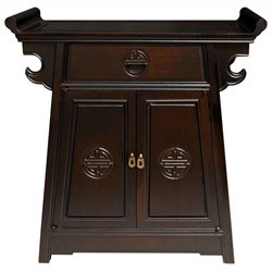 Oriental Furniture Altar Cabinet in Two Tone