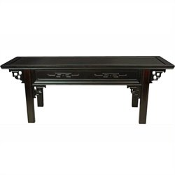 Oriental Furniture Japanese Altar Bench in Rosewood