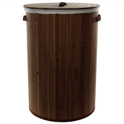 Oriental Furniture Laundry Hamper in Dark Mocha