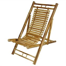 Oriental Furniture Folding Chair in Honey