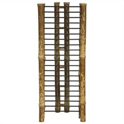 Oriental Furniture Vertical CD DVD Rack in Natural