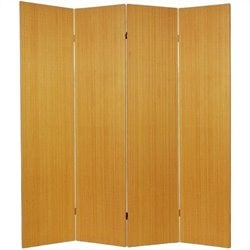 Oriental Frameless Room Divider with 4 Panel in Honey