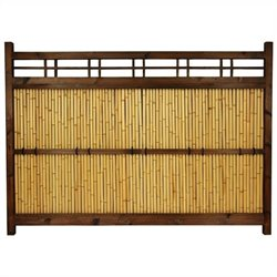 Oriental Furniture 4' x 5.5' Kumo Fence in Natural