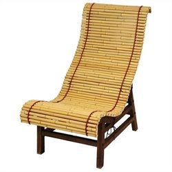 Oriental Furniture Lounge Chair in Natural