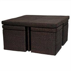 Oriental Furniture Coffee Table in Mocha