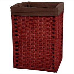Oriental Furniture Basket in Mahogany