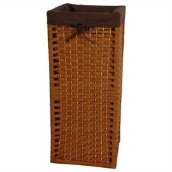 Oriental Furniture Laundry Hamper in Honey