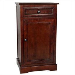 Oriental Furniture Classic Nightstand in Cherry
