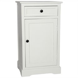 Oriental Furniture Classic Nightstand in White